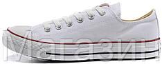 Женские низкие кеды Converse Chuck Taylor All Star White Конверс Чак Тейлор Олл Старс белые