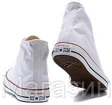 Женские высокие кеды Converse Chuck Taylor All Star White Конверс Чак Тейлор Олл Старс белые, фото 3