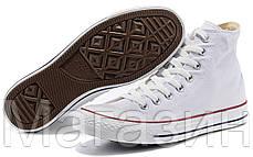 Женские высокие кеды Converse Chuck Taylor All Star White Конверс Чак Тейлор Олл Старс белые, фото 2