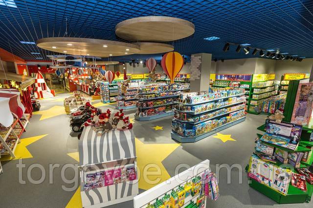 Современное торговое оборудование для магазина детских товаров