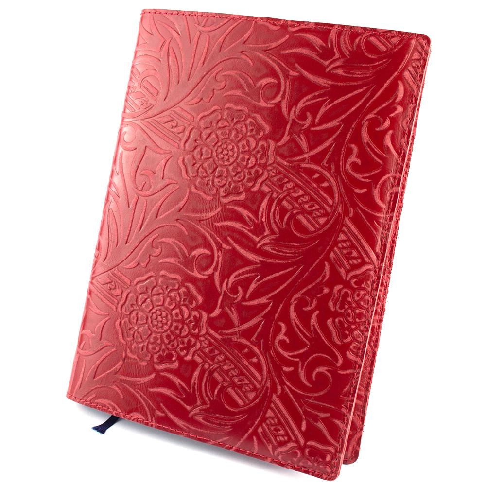 Кожаная обложка для ежедневника / блокнота ф. А5 Амелия (красная)