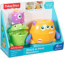 Игрушка пирамидка для малышей Монстрики Fisher-Price Stack & Nest Monsters, фото 2