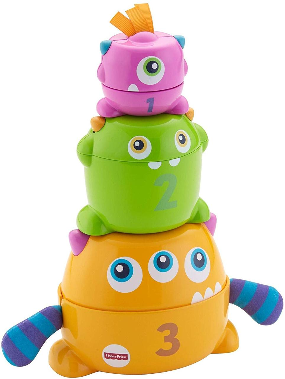 Игрушка пирамидка для малышей Монстрики Fisher-Price Stack & Nest Monsters