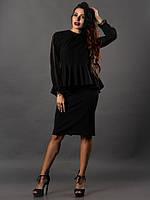 99e43161c6d Черная блуза с баской в Украине. Сравнить цены