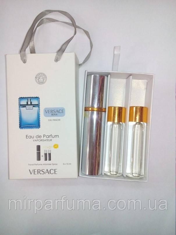 Мини духи Versace Eau Fraiche Men 45ml оптом в картонной упаковке