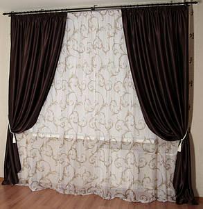Шторы портьерные Шанзелизе Венге (2 шторы), фото 2