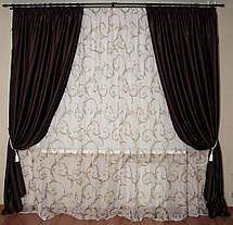 Шторы портьерные Шанзелизе Венге (2 шторы), фото 3