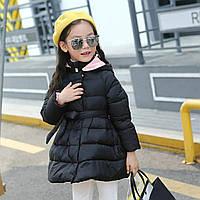 В наличии!!! Стильная курточка платье на девочку демисезон черная с розовым