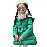 Хит!!! Куртка пальто на девочку Весна люкс качество зеленая от 3 до 7 лет