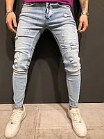 Мужские джинсы светлые 659