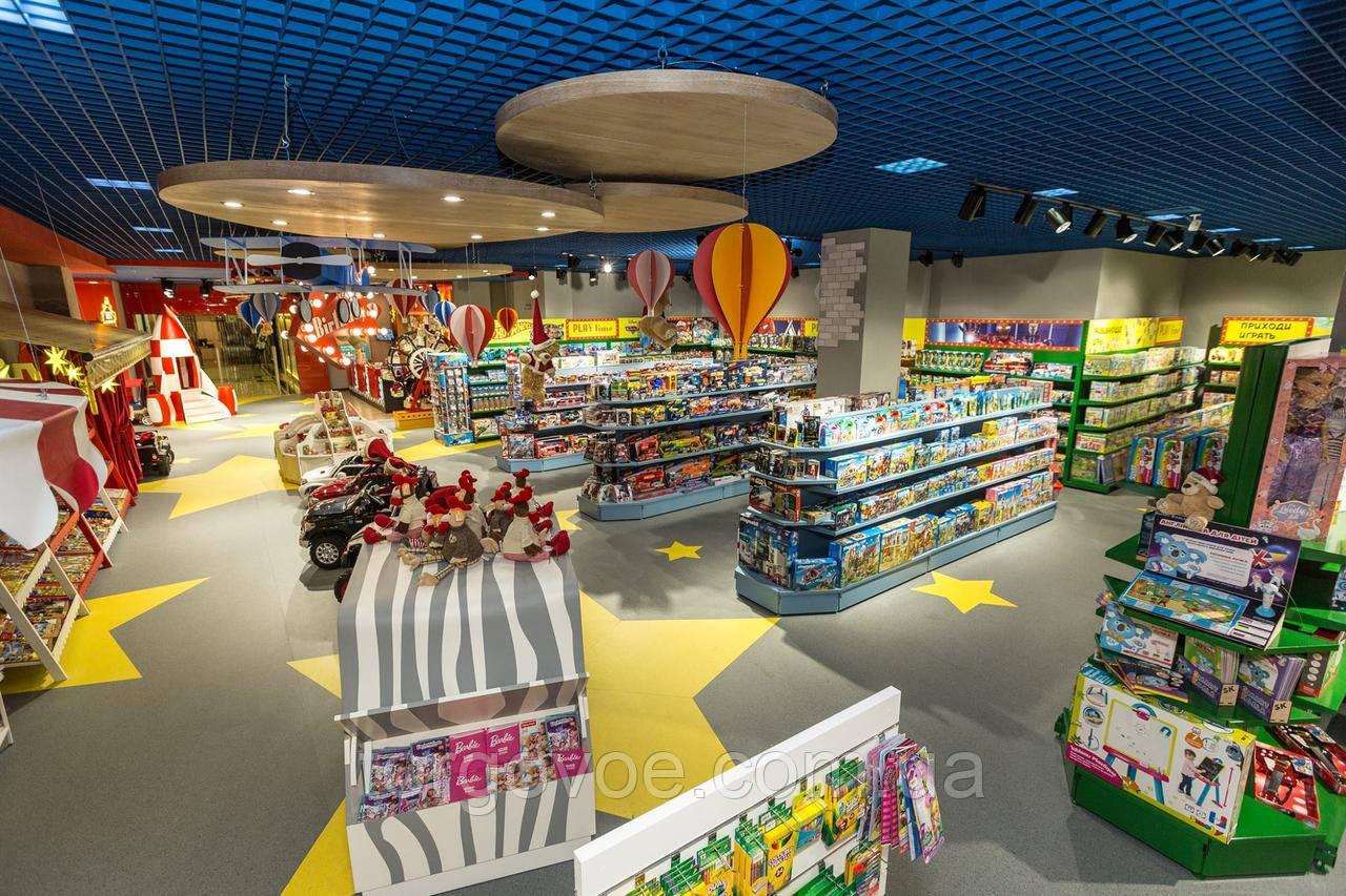 Новый гипермаркет товаров для детей в Одессе на торговом оборудовании от ВГ Групп