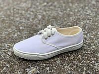 Мокасины женские белые на шнуровке Литма, фото 1