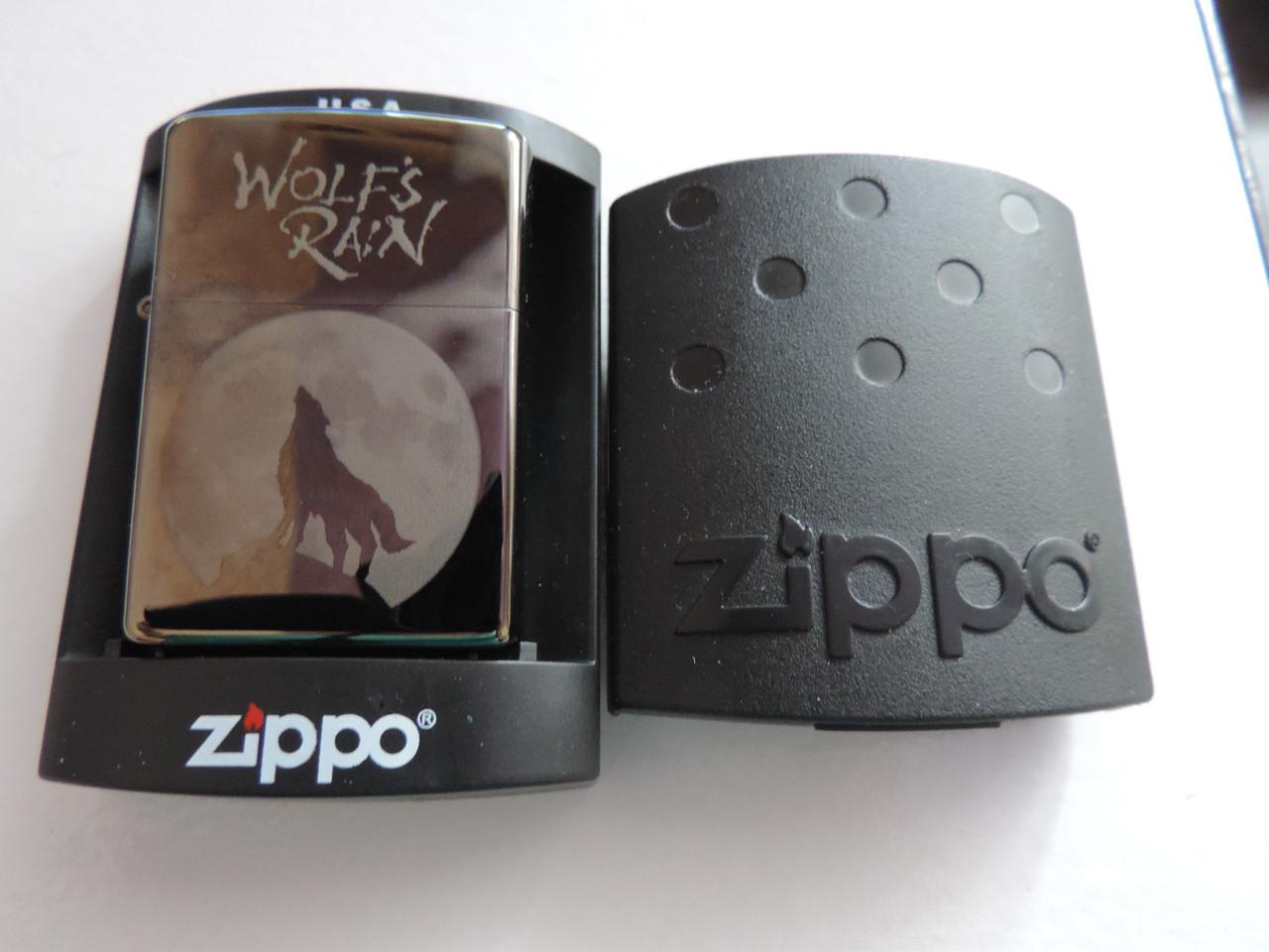 Зажигалка бензиновая Zippo (Зиппо) -«Wolfs-Rain» копия