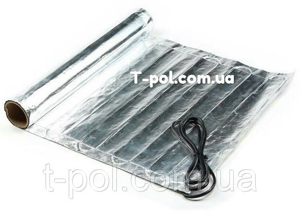 Фольгированный алюминиевый нагревательный мат In-therm Afmat 8 м2 под ламинат и линолеум