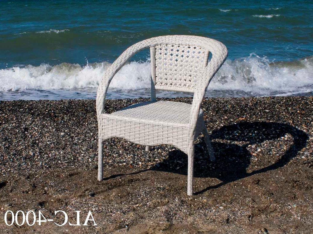 Кресло  из алюминия и искусственного ротанга ALC-4000