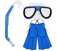 Детский набор для плавания M 0025 (маска, трубка, ласты)
