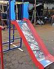 Детский спортивно игровой комплекс с качелями и горкой из нержавейки, фото 7
