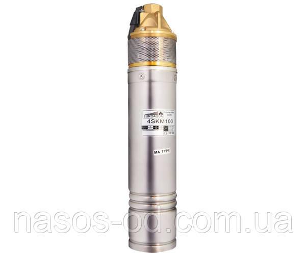 Насос глубинный вихревой Euroaqua 4SKM100 для скважин 0.75кВт Hmax54м Qmax35л/мин Ø95мм (кабель 10м)