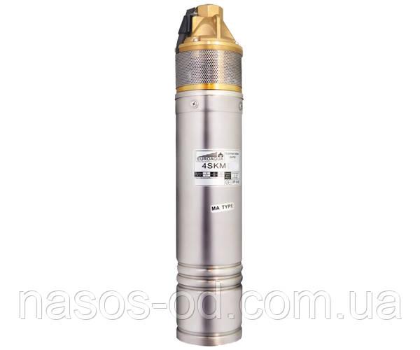 Насос глубинный вихревой Euroaqua 4SKM150 для скважин 1.1кВт Hmax85м Qmax35л/мин Ø90мм (с конденсатором)