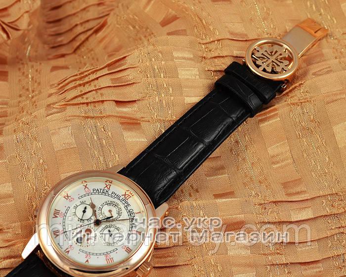ae615eb5 ... Мужские наручные часы Patek Philippe Sky Moon Tourbillon Gold White  реплика отличное качество Патек Филип,