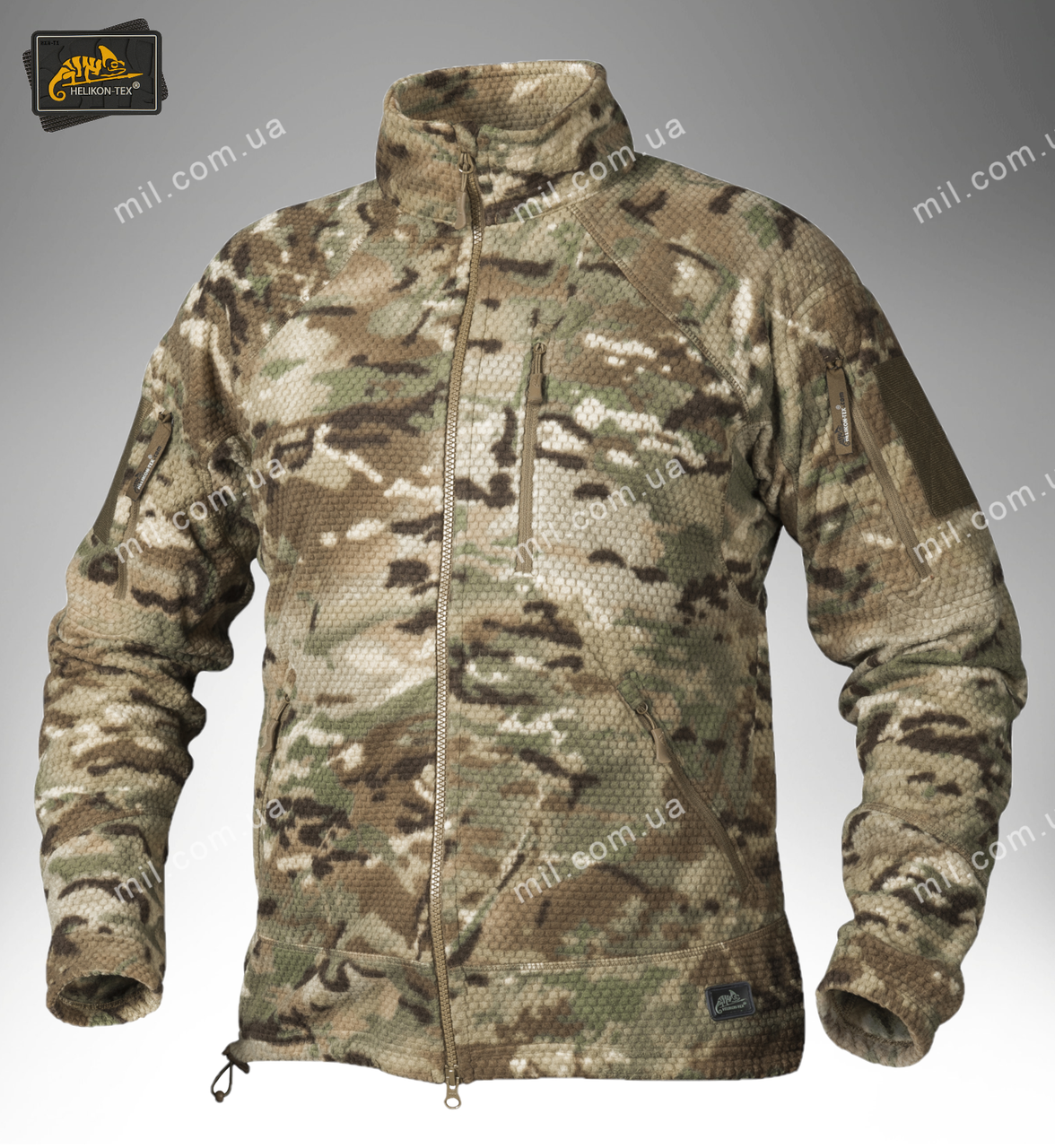 Тактическая флисовая куртка/ кофта Helikon-Tex® ALPHA TACTICAL fleece (camogrom)