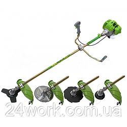 Бензокоса Procraft Т-4200 PRO NEW, (3 ножа, 1 катушка)
