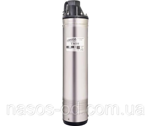 Насос глубинный вихревой Euroaqua TM-10 для скважин 0.75кВт Hmax48м Qmax35л/мин (кабель 10м)