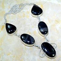 Cеребряное ожерелье с агатом
