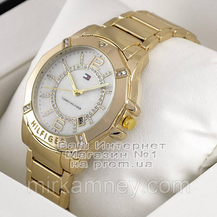 b8e0538e Женские наручные часы Tommy Hilfiger Quartz Gold Black унисекс Томми  Хилфигер премиум реплика