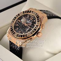 Женские наручные часы Hublot Big Bang Boa Snake Gold Black Dimond Хуболт  качественная люкс реплика 22d3751b8f592