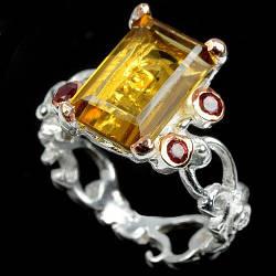 Цитрин, серебро 925, кольцо, 1497КЦЦ