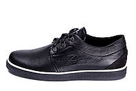 Мужские кожаные кеды ZG New Line Black черные