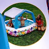 Детский надувной бассейн Intex 57470 Аквариум со съемным навесом, 157 х 157 х 122 см, фото 5