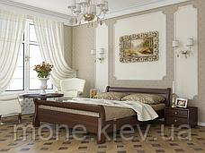Кровать полуторная Диана деревянная из бука , фото 3