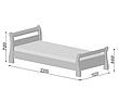 Кровать полуторная Диана деревянная из бука , фото 2