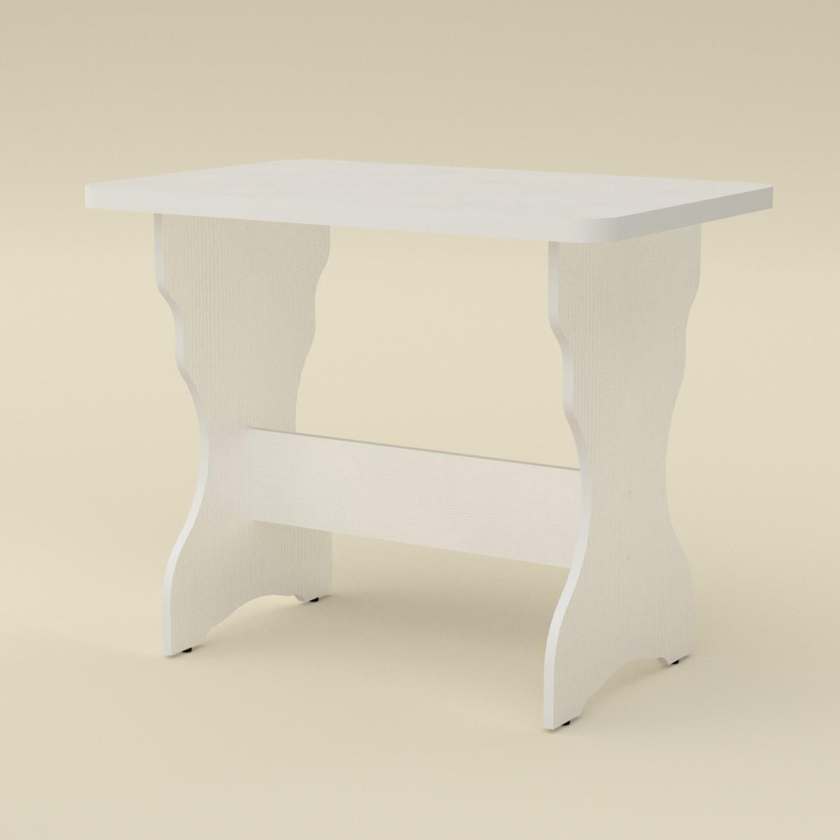 Стол кухонный КС-2 нимфея альба (белый) Компанит (90х60х71 см)