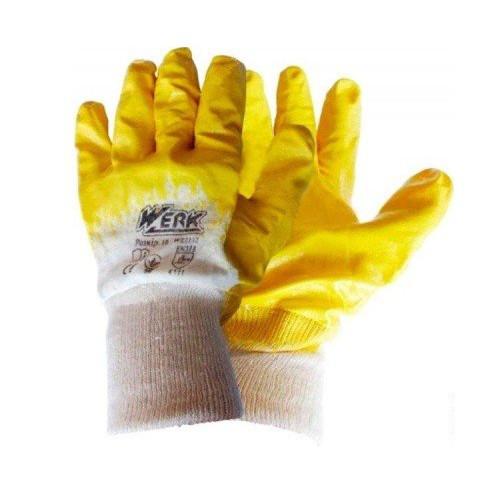 Перчатки Werk WE2132H (трикотаж/нитрил, желтые)