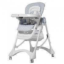 Детский стульчик для кормления CARRELLO Caramel  / Cloud Grey