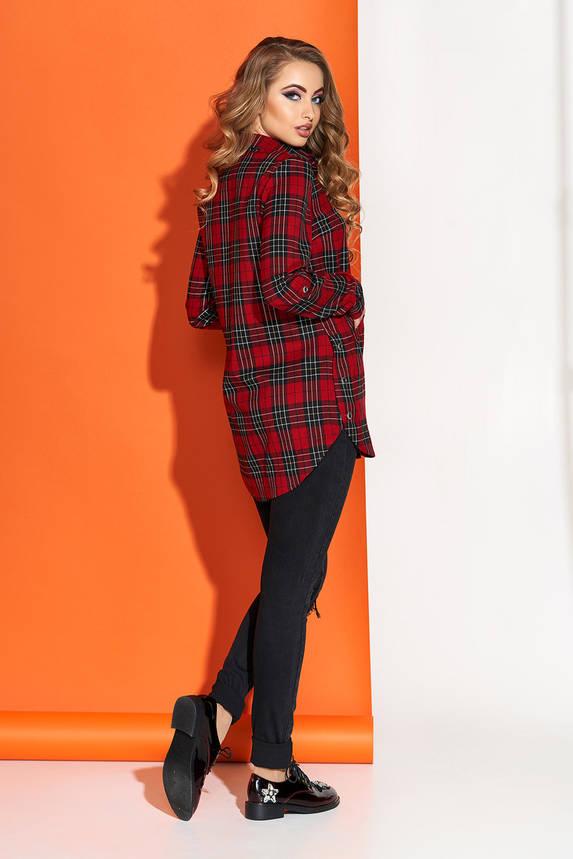 Рубашка женская в клетку красная, фото 2