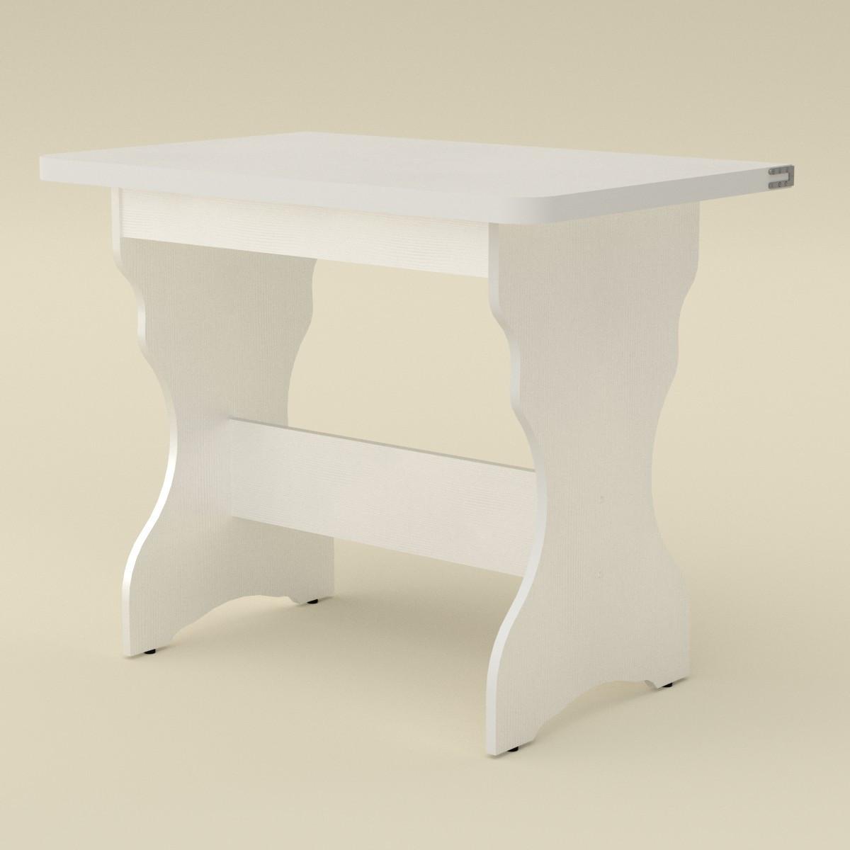Стол кухонный КС-3 белый Компанит (90х59х73 см)