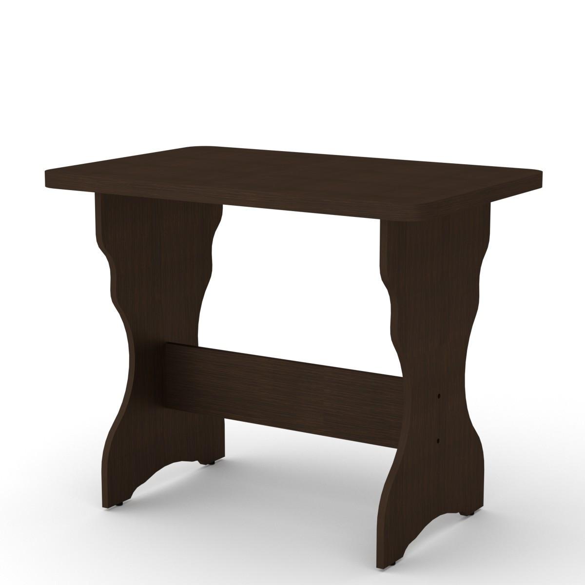 Стол кухонный КС-3 венге темный Компанит (90х60х72 см)