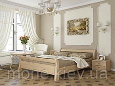Кровать односпальная Диана деревянная из бука , фото 2