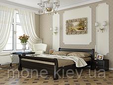 Ліжко односпальне Діана дерев'яні з бука, фото 2