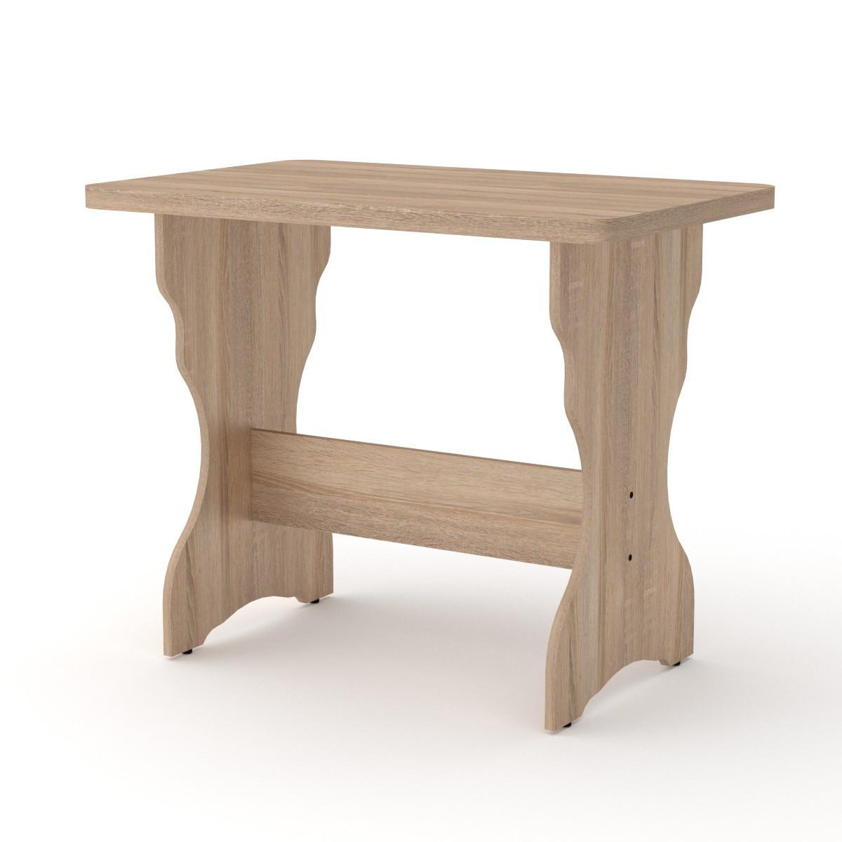 Стол кухонный КС-3 дуб сонома Компанит (90х59х73 см)