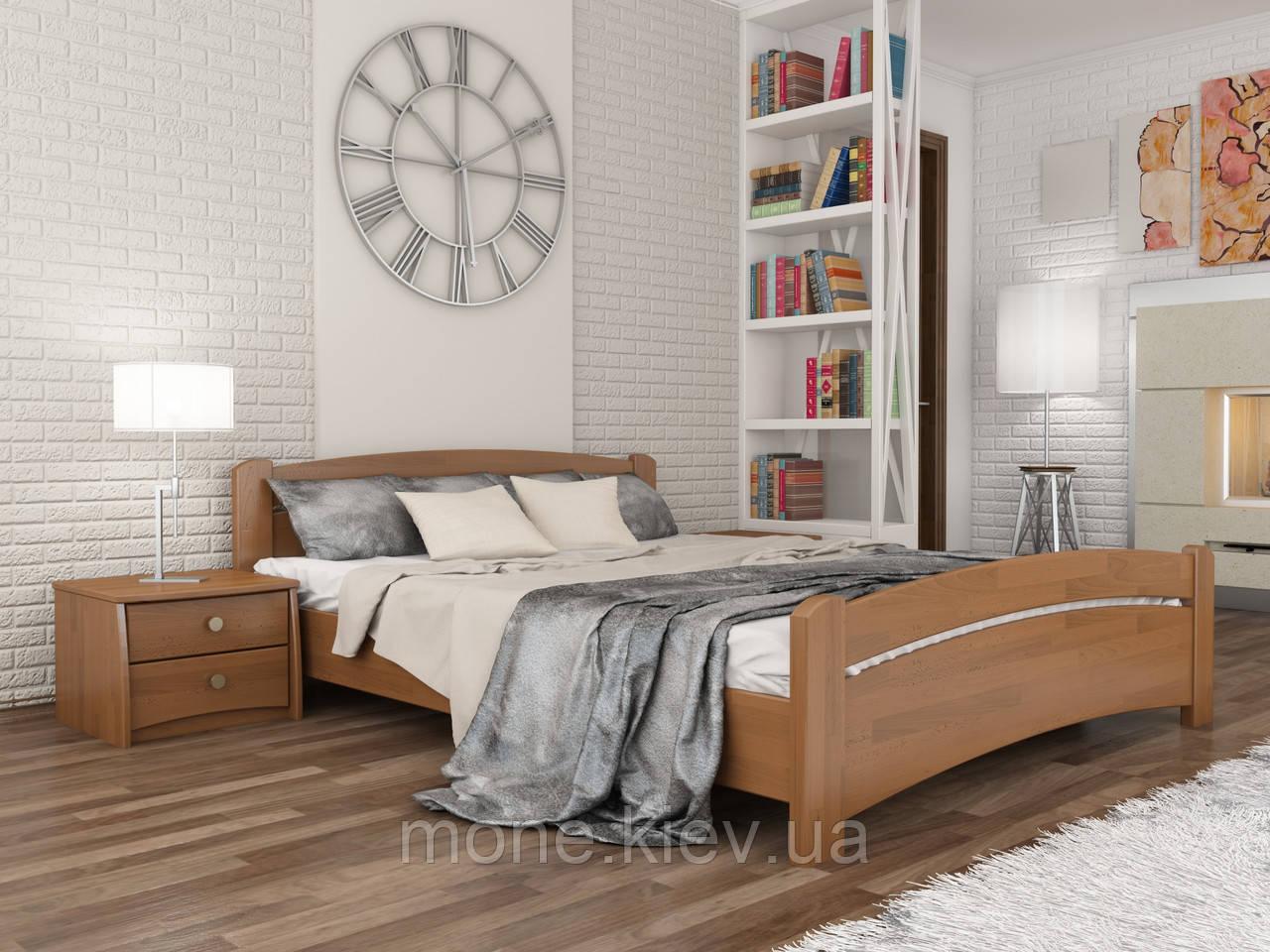 Кровать полуторная Венеция деревянная из бука