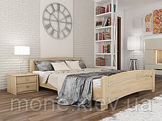 Кровать полуторная Венеция деревянная из бука , фото 3