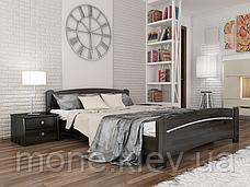 Ліжко полуторне Венеція дерев'яні з бука, фото 3