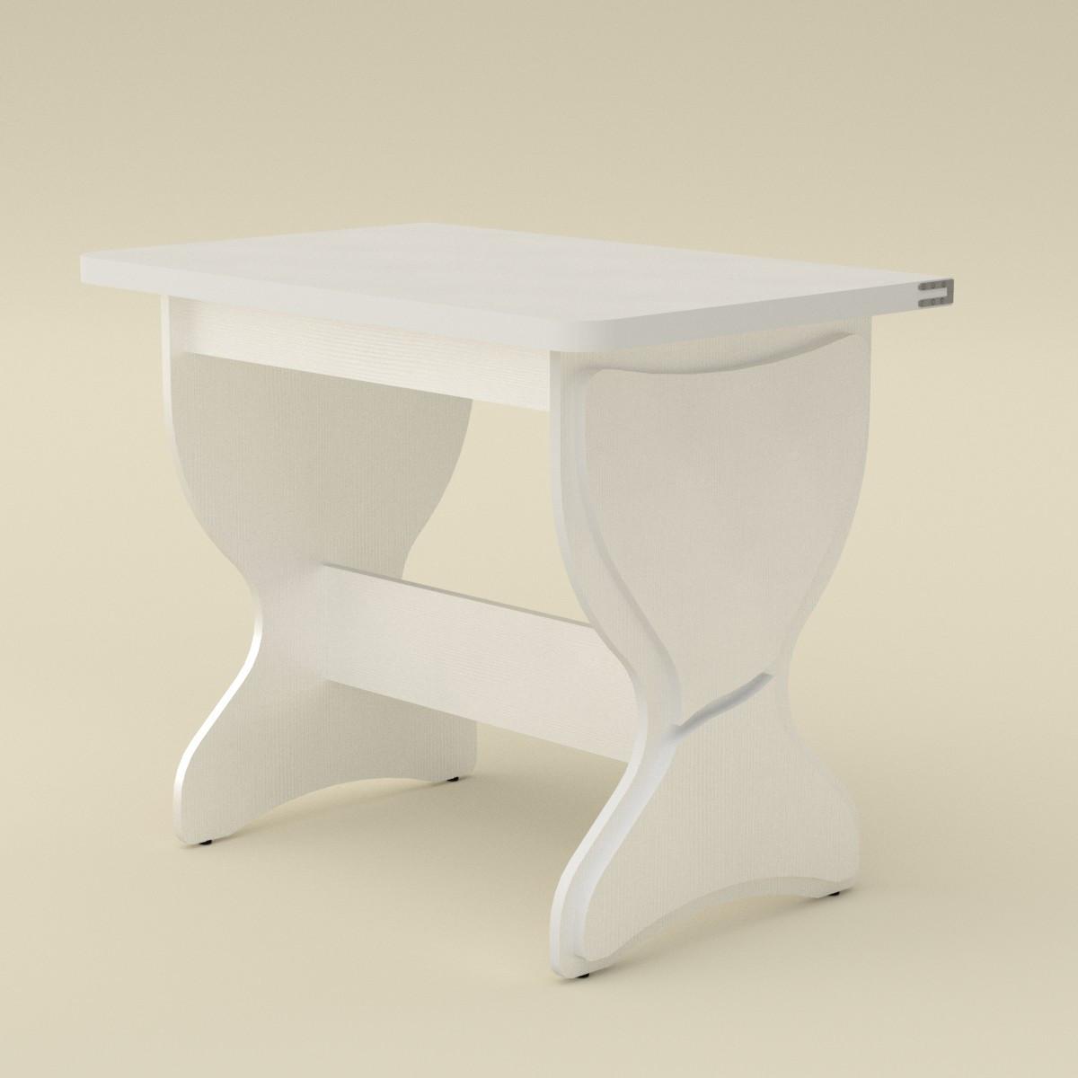 Стол кухонный КС-4 белый Компанит (90х59х73 см), фото 1