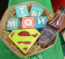 Набор Супермен  Мужское мыло ручной работы Подарок Мужчине
