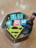 Набор Супермен  Мужское мыло ручной работы Подарок Мужчине, фото 7